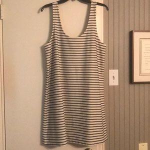 Madewell Stripe Tank Dress Size XL NWT
